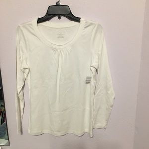 NWT: Christopher Banks Sm 100% cotton LS tee